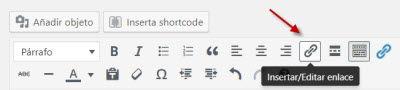 añadir enlace saliente en wordpress