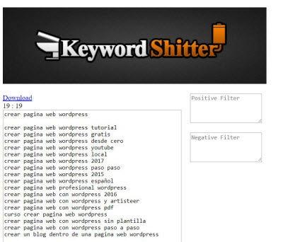 analisis palabras clave - keywordshitter
