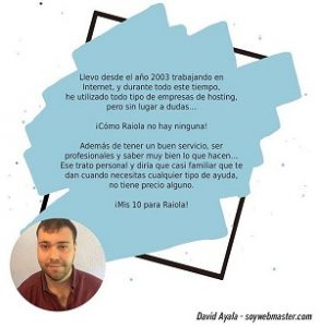 Davil Ayala opiniones Raiola network