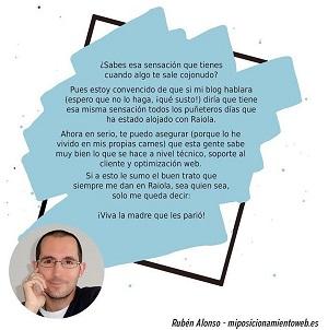Ruben Alonso mejor hosting opiniones