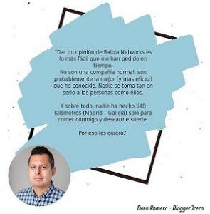dean romero opiniones raiola network